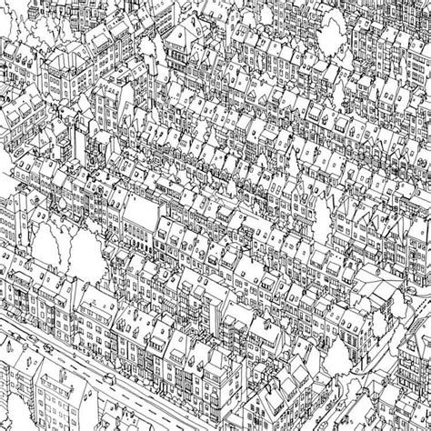 coloring book takes   fantastic cities  real