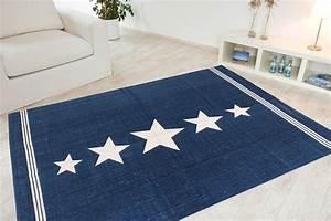 Teppich Blau Weiß : kinderteppich hellblau sterne ~ Whattoseeinmadrid.com Haus und Dekorationen