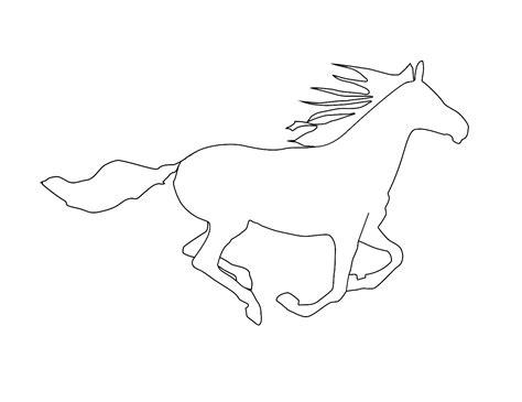 printable horse outline   clip art