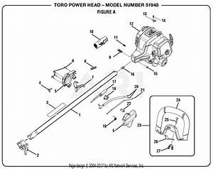 Homelite 51948 25 4 Cc Gas Power Head S  N 314000001  U0026 Up Mfg  No  090309018 Parts Diagram For