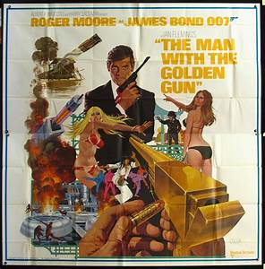 Man with the Golden Gun Vintage Movie Poster - at ...