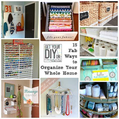 fab ways  organize   home house  hoff