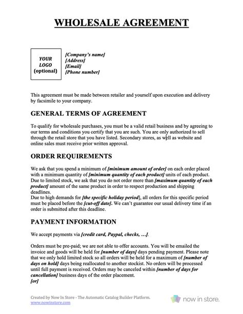 credit agreement template  templates office