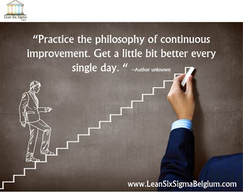 continuous improvement quotes lean  sigma belgium