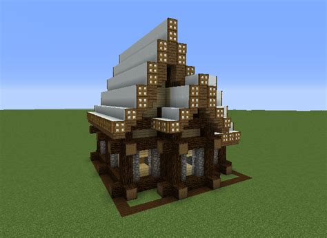 rustic medieval snowy house  blueprints  minecraft houses castles towers