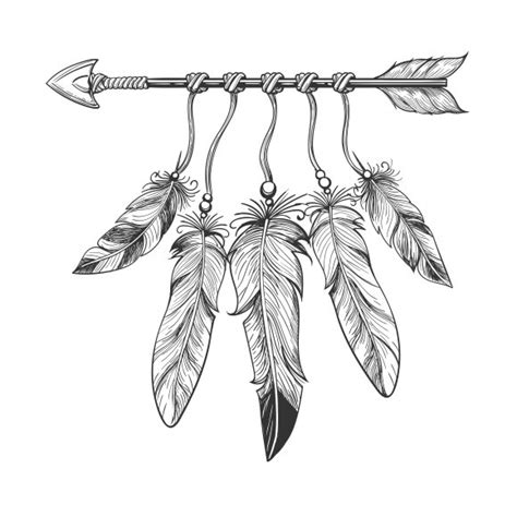 vintage nativity arrow  feathers graphics creative