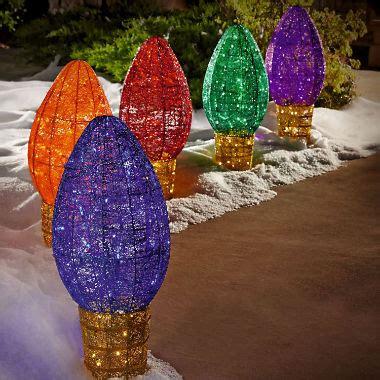 5 pc outdoor c9 multicolor path lights sam s club - Jumbo Outdoor Christmas Lights