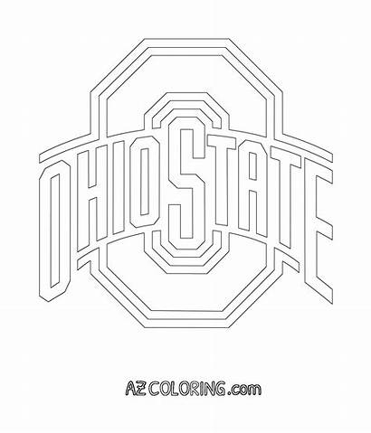 Coloring State Buckeyes Football Ohio Sheets Printable