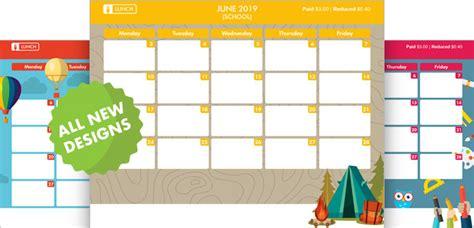 designs school menu templates school year