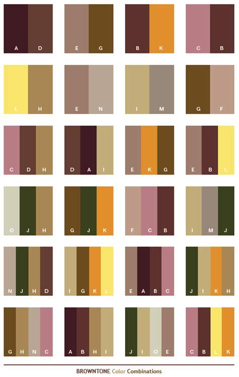 brown tone color schemes color combinations color palettes for print cmyk and web rgb html