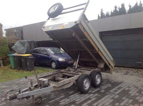 anhänger kipper kaufen kipper auto pkw anh 228 nger tandem kipper anh 228 nger transporte