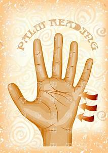 Palm reading - background with human hand Vector Image ...