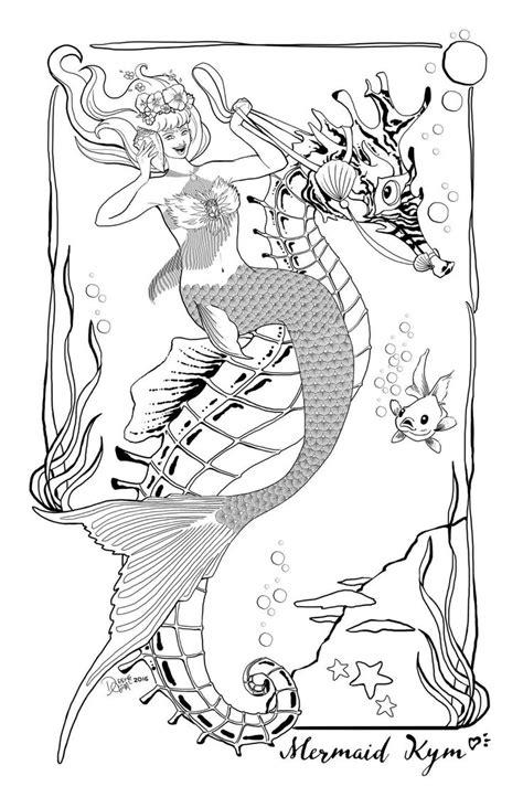 images  mermaid coloring sheets  pinterest