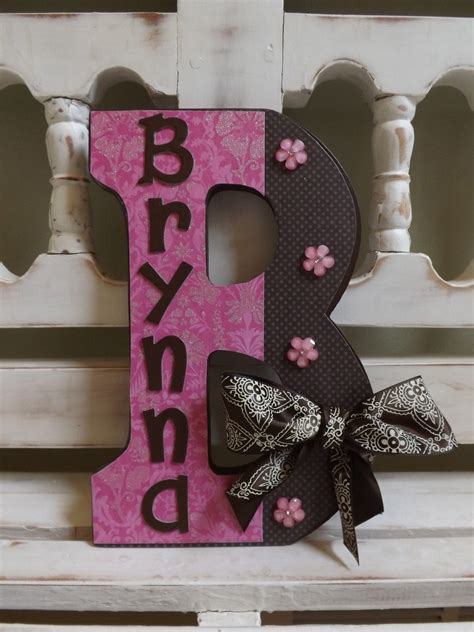 large wall letter monogram initials custom  wall letters