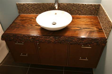 custom wood top vanity contemporary bathroom vanities