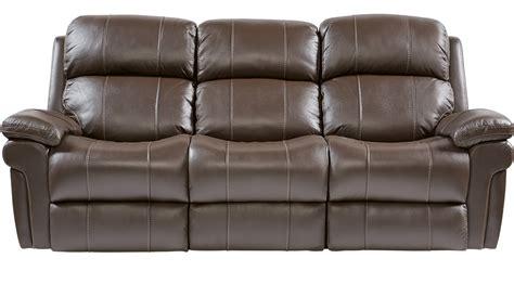 chocolate brown reclining sofa trevino chocolate brown leather power reclining sofa