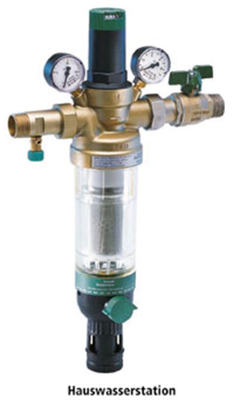 wasser druckminderer mit wasserfilter filterung trinkwasser im ein und mehrfamilienhaus