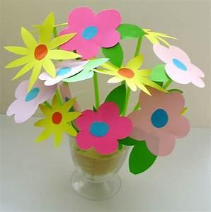 Fleur De Papier : bouquet de fleurs en papier t te modeler ~ Farleysfitness.com Idées de Décoration