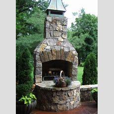 Outdoor Fireplace Kit, Masonry Outdoor Fireplace, Stone