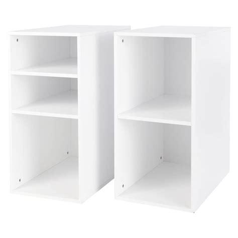 caissons bureau 2 caissons de bureau en bois blanc h 73 cm desk maisons
