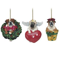 beloved bulldogs christmas ornaments the danbury mint