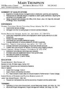 work experience section of resume resume experience exle best resume exle