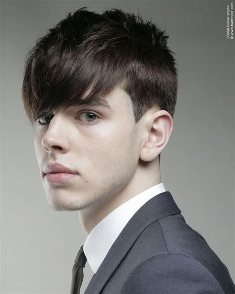 classic young mens hairstyle  clean lines