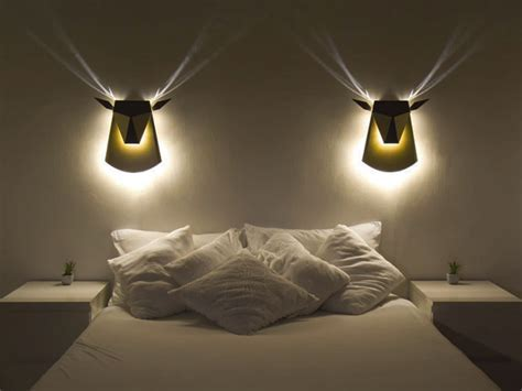deer shaped wall lamp adds golden ambiance to your home