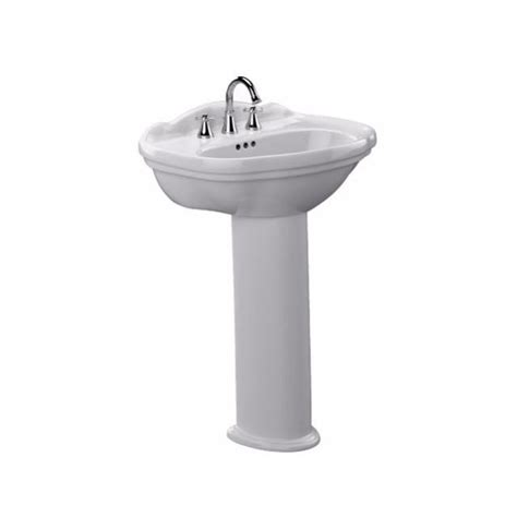 toto pedestal sink home depot toto pedestal combo bathroom sink in colonial