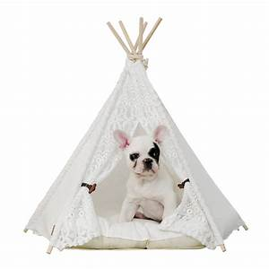 dog teepee tent all pet cages With dog and teepee