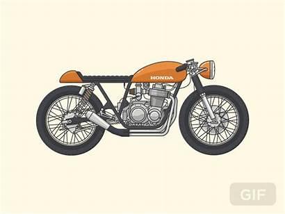Cafe Racer Dribbble Motorcycle Soon Coming Bike