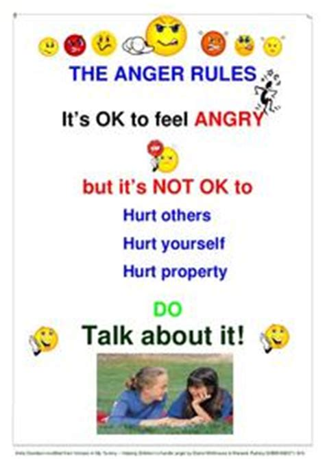anger rules printables template  pre
