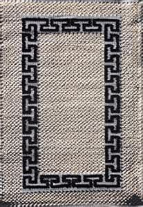 amazoncom cotton area rug  white  greek key