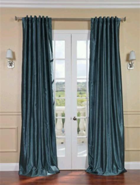 peacock blue curtains window treatments