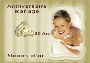 Faire Part Anniversaire 50 Ans : anniversaire de mariage 50 ans noces d 39 or photos leblog ~ Edinachiropracticcenter.com Idées de Décoration