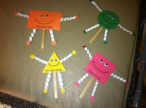 shape puppetscute  preschool homeschooling