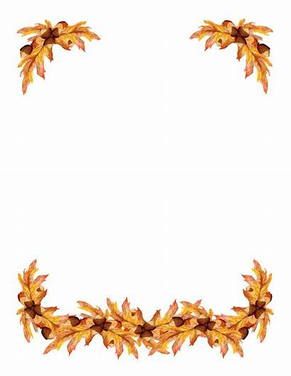 Borders Clip Border Clipart Leaf Autumn Designs