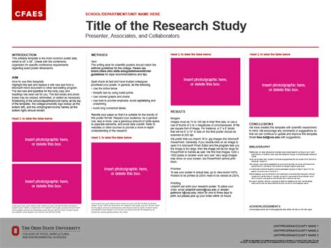 research posters  cfaes brand