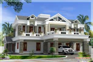 luxury home plans sloping roof mix luxury home design kerala home design