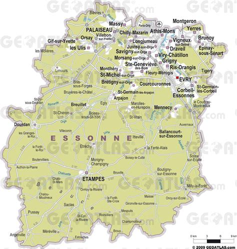 Carte De à Imprimer Avec Villes by Info Carte Du 91 Avec Les Villes