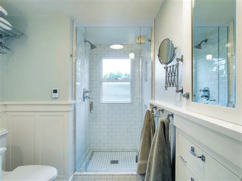 walk  shower ideas transitional bathroom