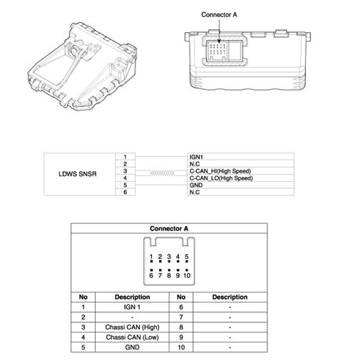 service manuals schematics 2003 hyundai accent lane departure warning hyundai azera lane departure warning system ldws unit components and components location