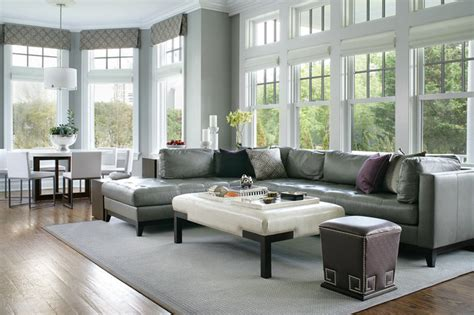 transitional living room leather sofa larchmont ny transitional family room new york by