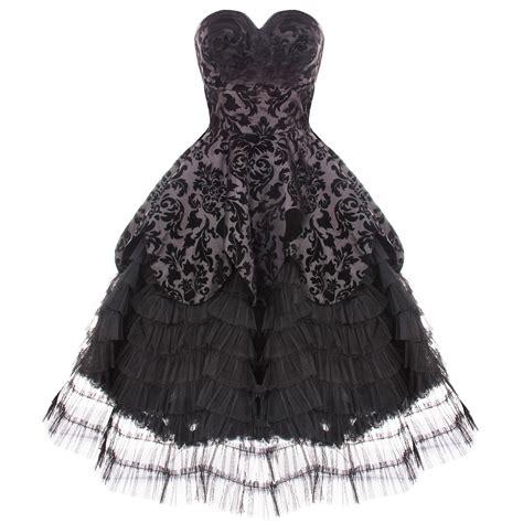 Hell Bunny Lavintage Black Goth Victorian Steampunk