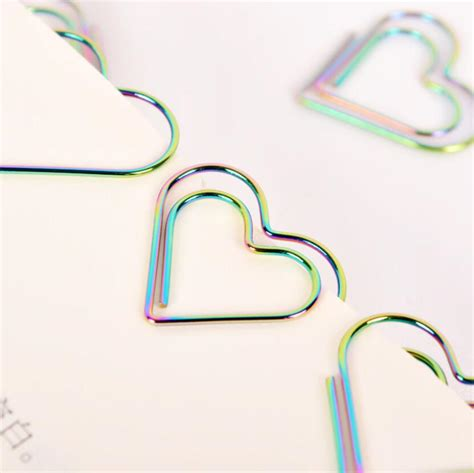 5boxes colourful heart bookmark paper clip office
