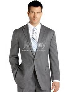 wedding suit for bespoke notch lapel stripes grey wedding suits