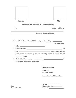 gazetted officer  official letterhead photo identy hindi