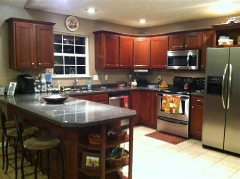 kitchen paint colors to match cherry cabinets