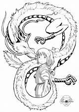 Chihiro Spirited Coloring Away Tattoo Anime Ghibli Studio Haku Miyazaki Tattoos Dibujos Deviantart Viaje Latorre Maria Ins Tatuagem Viagem Dibujo sketch template
