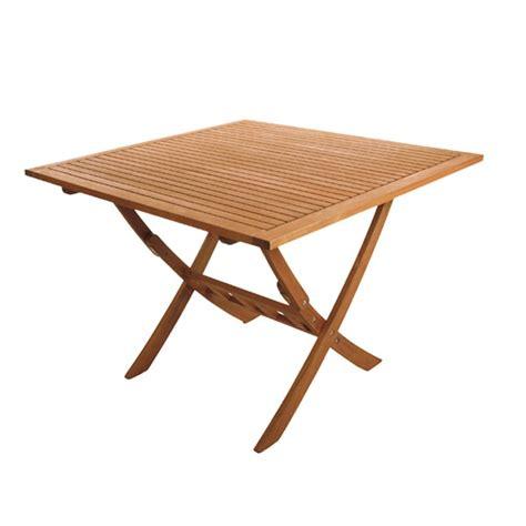 table en teck pliante table pliante 80x80 cm en bois exotique couleur teck trz b80 one mobilier